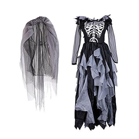Zombie Halloween Costumes Filles - MagiDeal Halloween Costume de la Mariée Zombie