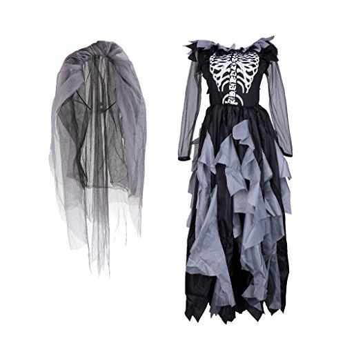 erbraut Doktor Krankenschwester Zombie Kostüm für Halloween Karneval Fasching Kleid Cosplay Set - Zombie (Krankenschwestern Dress Up Für Halloween)