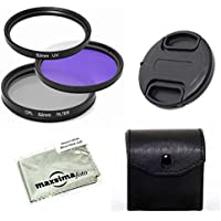 Maxsimafoto - 58mm Filter Set, UV, CPL & FLD for Canon 18-55mm kit lens that come with the 550D, 600D, 1000D, 1100D Cameras