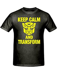 Bamboozled Accessories Keep Calm & Transform Transformers T Shirt,Children's T Shirt, Sizes 5-15 Years