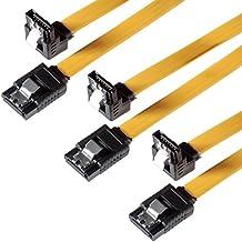 Set de 3 Cables S-ATA PREMIUM 3 HDD / SSD Cable de datos PREMIUM cada uno con enchufes de Clip rectos para ser conectados a un enchufe de clip de 90 grados / compatible con versiones anterior