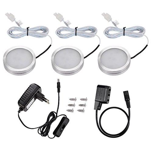 LE 3x Luce LED armadio sottopensile, 170lm