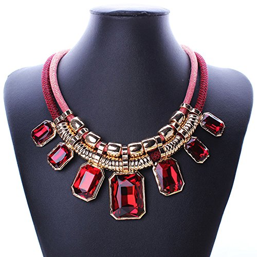 exquisite-chunky-bib-crystal-choker-leather-cord-chain-short-necklace-collar-color-red