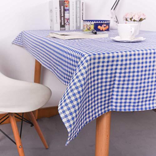 YBQB Moderne, minimalistische Schwarz - weiß - Grau - Karierten tischdecken tischdecken Hotel multifunktionale tischdecke tischdecken Feinen Blauen Gitter - Baumwolle