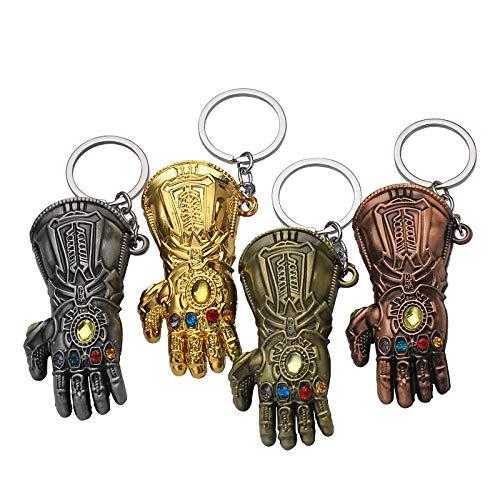 KBWL Horror Statue Hulk Faust Schlüsselbund Iron Man Trolley Schlüsselbund Handschuhe Unlimited Handguard Schlüsselbund Bronze