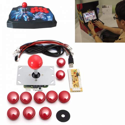 GOZAR Spiel DIY Arcade Set Kits Ersatzteile USB Encoder Zu Pc Joystick Und Tasten - Rot Encoder Kit