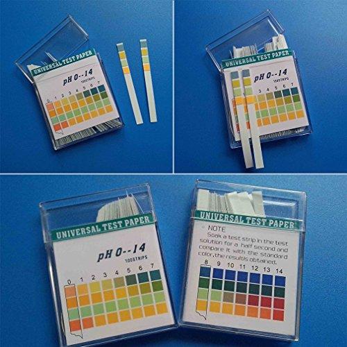 YKS pH Teststreifen Alkalinität 100 Stück Urin & Speichel Wasser