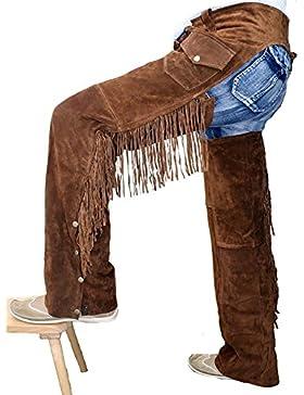 Chaps Fransenhose Cowboy Indianer Western Lederchaps Braun