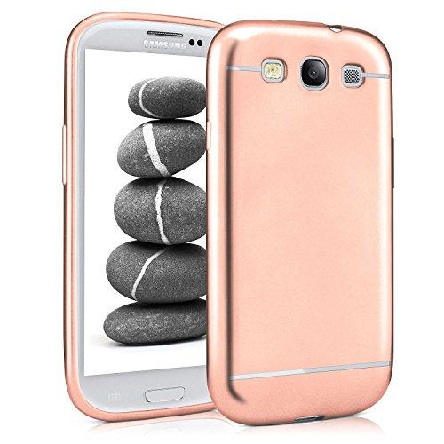 Caso suave para Samsung Galaxy S3 / S3 Neo | Funda de silicona con efecto metálico mate | Protección de celda fina bolsa de OneFlow | Backcover en Rose-Gold