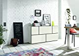 now! by hülsta to go, Wohnkombination Wohnwand Sideboard, Farbe weiß, 5er Bundle, Made in Germany