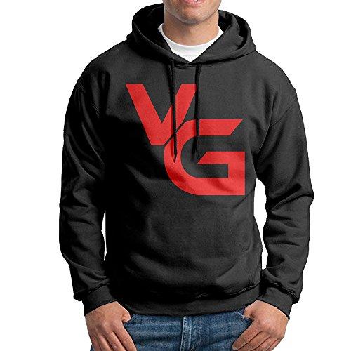 VANOSS Gaming VG Herren Fleece Pullover Hoodie schwarz, Herren, schwarz