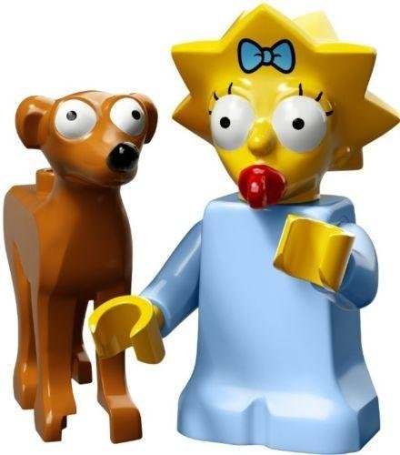 Lego Simpsons Series 2 Pick Your Figure 71009 (Maggie with Santa's Little Helper) by LEGO (Santa Simpsons)