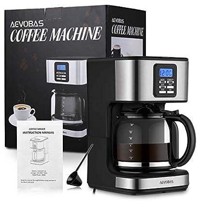 AEVOBAS-Filterkaffeemaschine-mit-Timer-Programmierbare-Kaffeemaschine-mit-LCD-Anzeige-Einstellbares-Kaffeearoma-1-bis-12-Tassen-mit-Glaskanne-Anti-Drip-Funktion-Automatische-Warmhaltefunktion