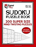 Twisted Mind Sudoku Puzzle Book, 200 Super Size Mind Twisting Puzzles, 100 Easy and 100 Medium: One Gigantic Puzzle Per Letter Size Page: Volume 22 (Twisted Mind Puzzles)