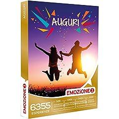 Idea Regalo - Emozione3 - Cofanetto Regalo - Auguri! - 6355 possibilità di Scelta tra soggiorni, cene, trattamenti Benessere, attività Sportive