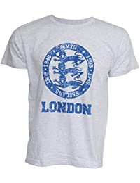Mens London 3 Lions England Print Short Sleeve Casual T-Shirt/Top