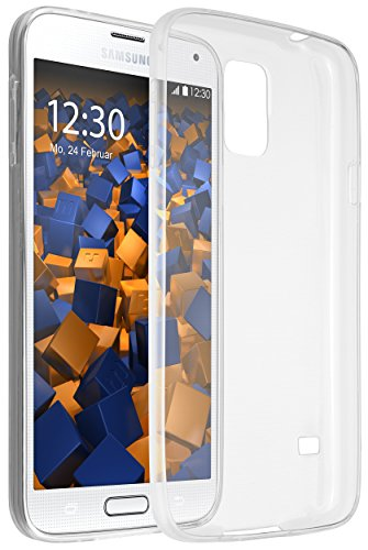 mumbi UltraSlim Hülle für Samsung Galaxy S5 / S5 Neo Schutzhülle transparent (Ultra Slim - 0.55 mm)