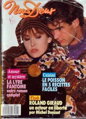 NOUS DEUX [No 2117] du 27/01/1988 - cuisine - le poisson en 5 recettes faciles flash - roland giraud par michel denisot - amour et mystere - la lyre fantome