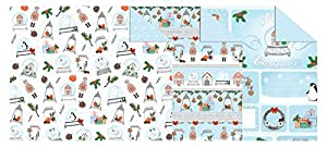Ursus 11502299Cartulina Invierno Navidad, 300g/m², Aprox. 49,5x 68cm, 10Surtidos de Arco en 3Motivos