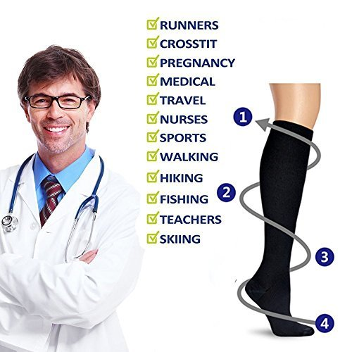 Graduated-Compression-Socks-for-Men-WomenCompression-Socks-20-30-mmHg-for-CrossfitMaternity-Athletics-Travel-Nurses-Boost-Stamina-Circulation-Recovery