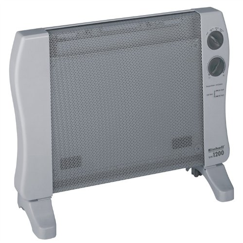 Einhell Wärmewellen Heizung WW 1200 (1200 Watt, Mica Heizelement, 3 Heizstufen, Thermostat, Stand- oder Wandgerät)
