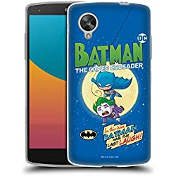 Head Case Designs Officiel Super Friends DC Comics Batman Jeunes Enfants Couverture Bandes Dessinées Coque en Gel Doux Compatible avec LG Nexus 5