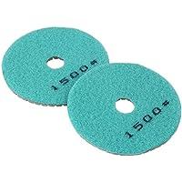 cnbtr 100mm diametro Arancione pietra di diamante lucidatura pad Disco per lucidatrice processo, confezione da 2, verde