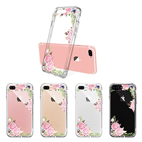 Tropical Case for iPhone 7 Plus iPhone 8 Plus Feathers and Roses