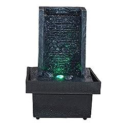 Idea Regalo - Zen Light, Fontana per Interni con LED Che cambiano Colore, da Parete
