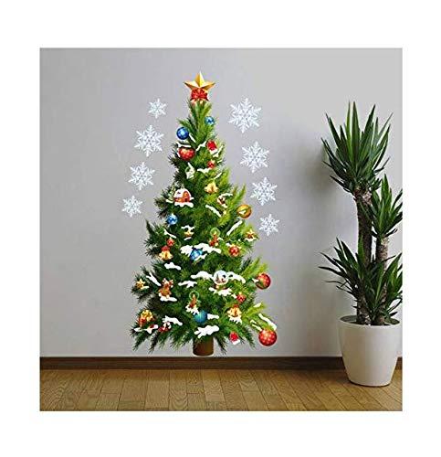 3d adesivi murali murale alberi di natale con regali di festa decorazione decorazione adesivi murali adesivi stella per decorazioni per la casa soggiorno per feste