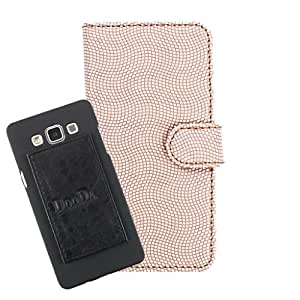 DooDa PU Leather Wallet Flip Case Cover With Card & ID Slots For iberry Auxus Nuclea X - Back Cover Not Included Peel And Paste