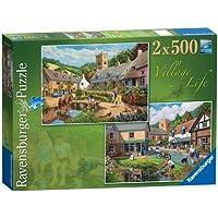 Ravensburger Village Life 2 x 500pc Jigsaw Puzzle