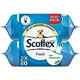 Scottex Fresh Papel Higiénico Húmedo - Pack de 2 x 80 servicios