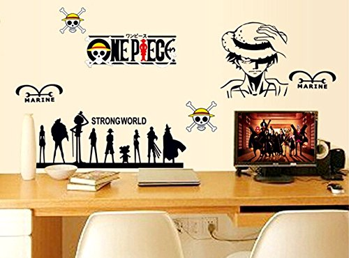 One Piece Monkey D. Luffy – Adhesivo de pared, Decoración para pared
