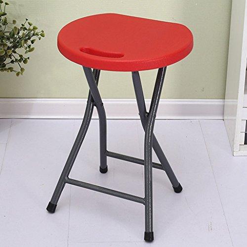 Klappstuhl Plastikfalten-Schemel-Haushalts-Speisetisch-Erwachsener hoher Schemel-Kleiner Bank-Stuhl-einfache Portable verdicken kreative Mode (Farbe : B)