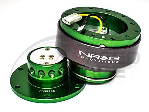NRG Lenkrad Quick Release Kit–Generation 2.0–grün mit Titan Ring srk-200gn