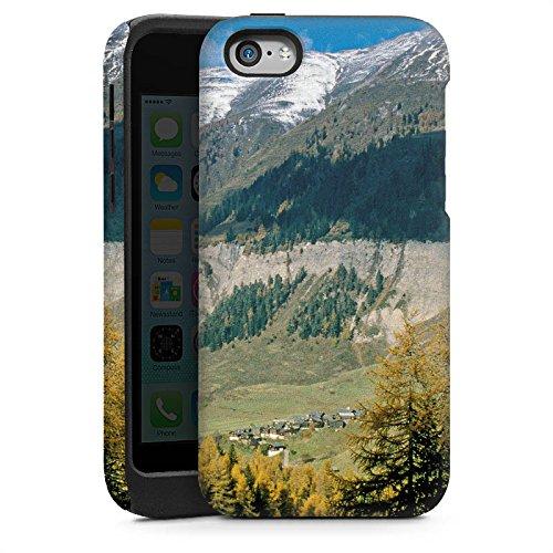 Apple iPhone 5s Housse Étui Protection Coque Montagne Colline Paysage Cas Tough brillant