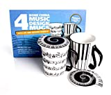 Mug And Lid (Music Notes)