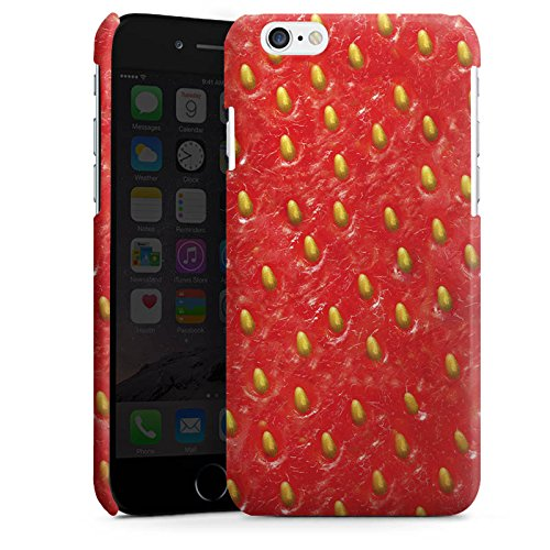 Apple iPhone 5 Housse étui coque protection Fraise Strawberry Strawberry Cas Premium brillant