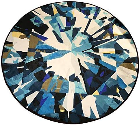 Tappeti rossoondo Blu Scuro Soggiorno nel d'Acqua Padiglione Assorbimento d'Acqua nel Antiscivolo Minimalismo Moderno Nordico (Dimensioni   Diameter-140cm) b6e833