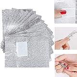 Chytaii 100pcs Papel de Aluminio Con Esponja de Uñas Papel de Quitaesmalte Herramienta de Limpieza para Remover el Gel de Uñas Acrílico Nail Removedor Esmalte