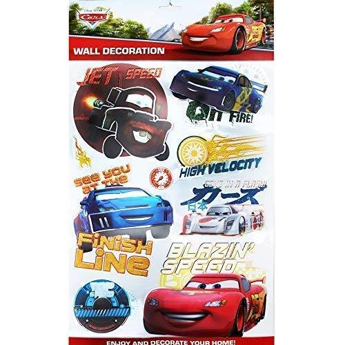 TE-Trend Disney 3D Poster Disney Cars Lightning McQueen Wandtattoo 8 Stück Wandsticker Wandbilder Jungen Kinderzimmer Deko Mehrfarbig (3d Lightning Mcqueen)