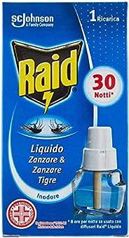 Raid Liquido Elettrico Ricarica, Antizanzare Elettrico Inodore,1 Confezione da 21ml