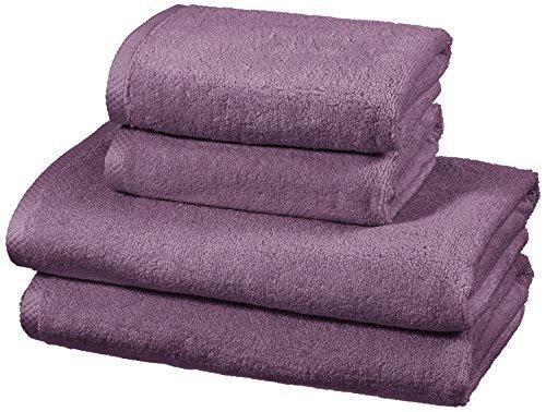 AmazonBasics - Set di 2 teli bagno e 2 asciugamani ad asciugatura rapida, colore: Lavanda