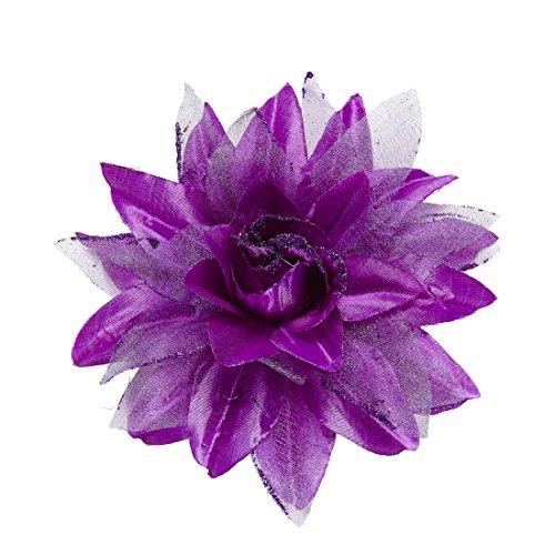 Hawaii Haarspange Rosen Haarblüte lila Kopfschmuck Haarblume Blumenspange Blumen Haarschmuck Ansteckblume Rose