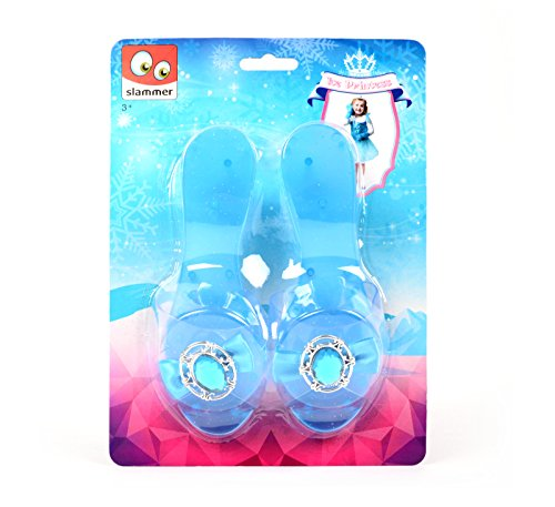 Niedlicher Eisprinzessin Schuhe Cinderella Pantoffel Prinzessin Pumps Blau Kostüm Kinder (Cinderella Kostüme Spielen)