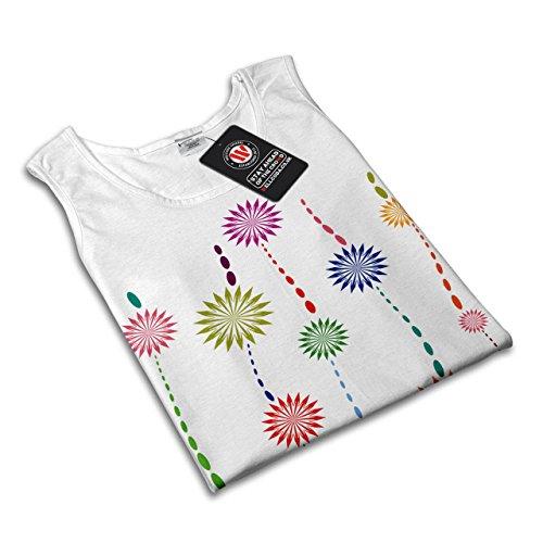 Pflanze Cool Entwurf Mode Sonne Blume Damen S-2XL Muskelshirt | Wellcoda Weiß