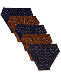 Rupa Jon Women's Block Print Panty (Pack of 5) (RJNJNPAS5PXX15095_Multicolour_95cm)