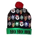 Weihnachts LED Hut, Weihnachtshut-Beleuchtung Stricken Hut, Warmer Herbst-Winter Gealterte Erwachsene Kinder