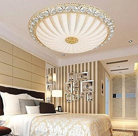 Jingzou Aluminium argent simples chambre ronde Plafond balcon lumières lumières européennes allée 32CM 15W